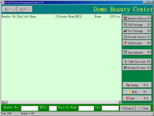 MemDB Beauty Management System