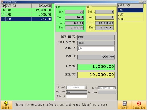 Foreign exchange system